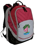 Flamingo Deluxe Laptop Backpack Red