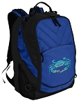 BLUE CRAB Deluxe Computer Backpack Blue