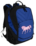 Cute Horse Deluxe Computer Backpack Blue