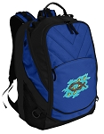 Christian Deluxe Computer Backpack Blue