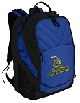 Don't Tread on Me Deluxe Computer Backpack Blue