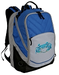 BLUE CRAB Deluxe Laptop Backpack Blue