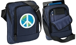 Peace Sign Tablet or Ipad Shoulder Bag Navy