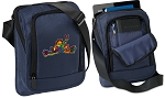 Peace Frogs Tablet or Ipad Shoulder Bag Navy