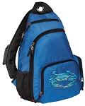 BLUE CRAB Sling Backpack Blue