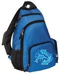 DOLPHINS Sling Backpack Blue