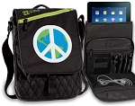 Peace Sign Tablet Bags & Cases Green