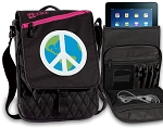 Peace Sign Tablet Bags & Cases Pink