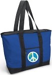 Peace Sign Tote Bag Blue