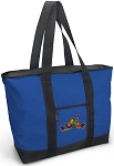 Peace Frogs Tote Bag Blue