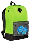 Dolphin Backpack HI VISIBILITY Green CLASSIC STYLE