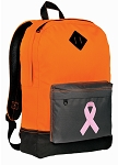 Pink Ribbon Backpack Classic Style Cool Orange