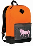 Cute Horse Backpack Classic Style Cool Orange