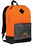 Peace Frogs Backpack Classic Style Cool Orange