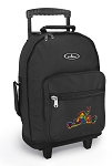 Peace Frogs Rolling Backpacks Black