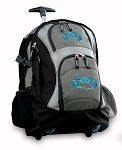 BLUE CRAB Rolling Backpack Black Gray
