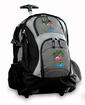 Flamingo Rolling Backpack Black Gray