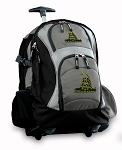 Don't Tread on Me Rolling Backpack Black Gray