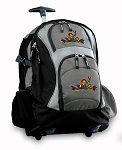 Peace Frogs Rolling Backpack Black Gray