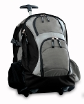 Rolling Backpack Black Gray