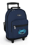 BLUE CRAB Rolling Navy Backpacks