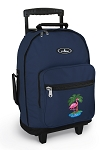 Flamingo Rolling Navy Backpacks