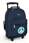 Peace Sign Rolling Navy Backpacks