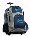 BLUE CRAB Rolling Backpack Navy