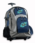 Christian Rolling Backpack Navy