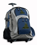 Don't Tread on Me Rolling Backpack Navy