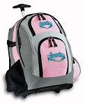 BLUE CRAB Rolling Backpack Pink