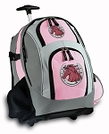 Horse Rolling Backpack Pink
