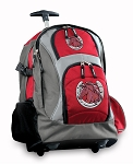 Horse Rolling Backpack Red