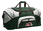 Large Alpha Gamma Delta Duffle Bag Green