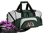 SMALL Alpha Gamma Delta Gym Bag AGD Sorority Duffle Green