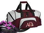 SMALL Alpha Gamma Delta Gym Bag AGD Sorority Duffle Maroon