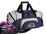 SMALL Alpha Gamma Delta Gym Bag AGD Sorority Duffle Navy