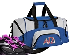 SMALL Alpha Gamma Delta Gym Bag AGD Sorority Duffle Blue