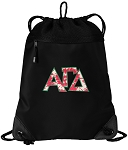 Alpha Gamma Drawstring Backpack-MESH & MICROFIBER