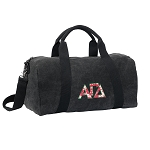 Alpha Gamma Duffel RICH COTTON Washed Finish Black