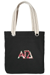 Alpha Gamma Tote Bag RICH COTTON CANVAS Black