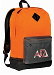 Alpha Gamma Backpack Classic Style Cool Orange