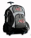 Alpha Gamma Rolling Backpack Black Gray