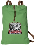 Alabama Cotton Drawstring Bag Backpacks Cool Green