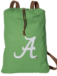 University of Alabama Cotton Drawstring Bag Backpacks Cool Green