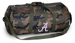 University of Alabama Camo Duffel Bags