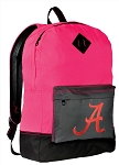 University of Alabama Backpack Classic Style HOT PINK