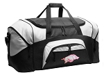 Womens University of Arkansas Duffel Bags or Arkansas Razorbacks Gym Bags For Men or Women