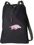 University of Arkansas Cotton Drawstring Bag Backpacks