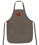 Official Arkansas Logo Apron Tan